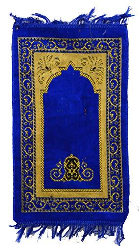 Kinder Gebetsteppich Saggada Seccade Namazlik Sejjada Moschee Kind Teppich Islam (Blau)