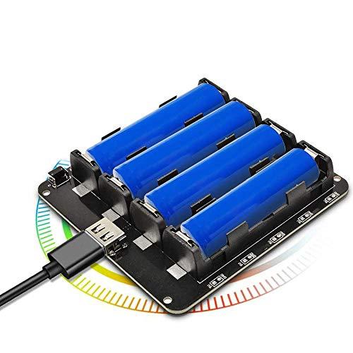Diymore 18650 Battery Shield V9 5V / 3A 3V / 1A Tarjeta de expansión con Micro USB Type-C para Raspberry Pi ESP32 WiFi