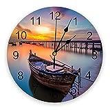 Yzybw Reloj de Pared Redondo Moderno Silencioso Reloj de...