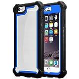 Cadorabo Funda para Apple iPhone 6 / iPhone 6S en Negro Azulado -2-en-1 Cubierta con Borde Silicona TPU y Espalda Acrílico - Case Cover Carcasa Protectora Ligera