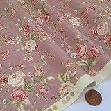 Siempre hacer punto y costura telas, nuevo de flores estilo Vintage 100% algodón (Vintage Floral...