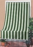Tenda da sole tessuto resistente per esterno con anelli lavabile frange pizzo - Verde - 140x250 cm