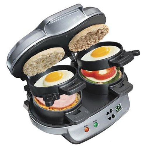 Hamilton Beach 25490 Dual Breakfast Sandwich Maker,Silver,Medium