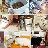 Homedecoam Programmierbarer Automatischer Futterautomat Futterspender für Hund und Katze Portion Control & Voice Recording - 4