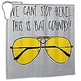 GSEGSEG Wasserdichter Polyester-Duschvorhang mit Fledermaus-Motiv Country Fear and Loathing In LAS Vegas, dekorativer Badezimmer-Vorhang mit Haken, 183 x 183 cm