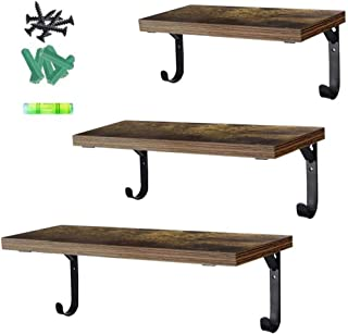Schliersee Floating Shelves Set of 3 Wall Mounted Rustic Wood Wall Storage Shelf for Bathroom, Bedroom, Living Room, Kitchen