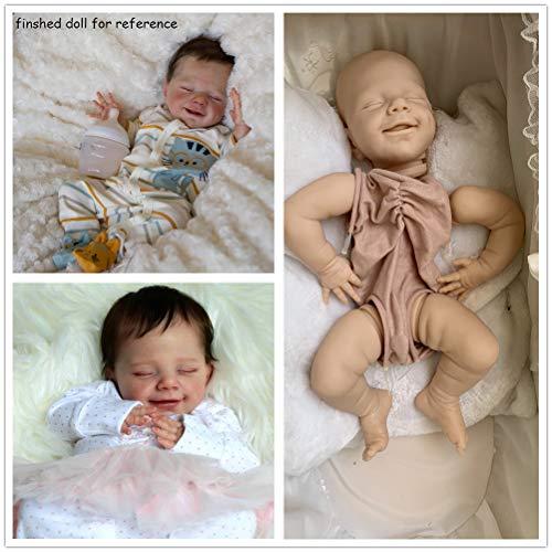 Zero Pam 55cm Reborn Doll Kits Unlackiertes DIY-Modell (leerer Kopf + Gliedmaßen + Körper )
