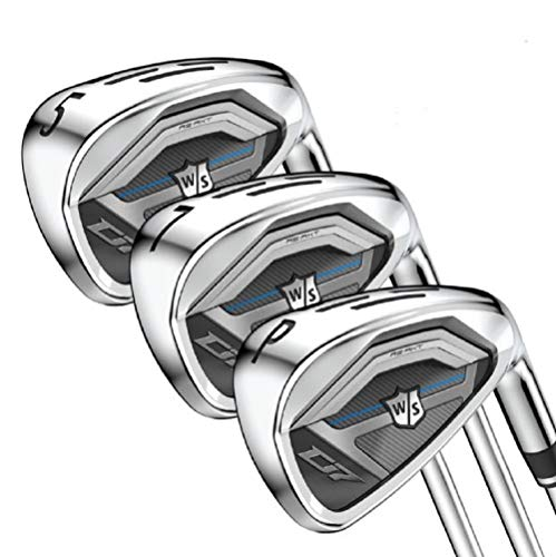 Wilson Staff Golf D7 Steel Iron Set, Men's Right Hand, Stiff Flex 5-PW, GW