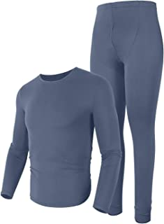 Men's Thermal Underwear Ultra Soft Lightweight Thin Long John Set