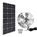 ECO-WORTHY Solar Power Attic Gable Fan - 100 Watts Solar Panel with 65 Watts...
