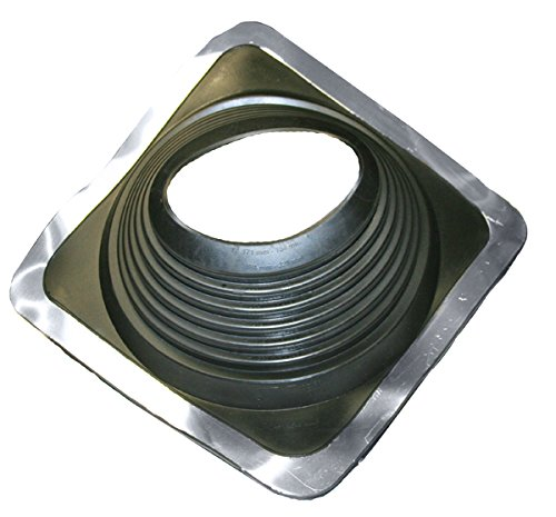 EPDM Black Pipe Flashings Square Base #8, Pipe Range 6-3/4' to 13-1/2'' (171mm to 343mm).