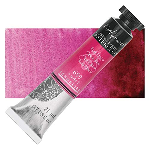 Sennelier L'Aquarelle French Watercolor, 21ml Tube, S2 Opera Rose