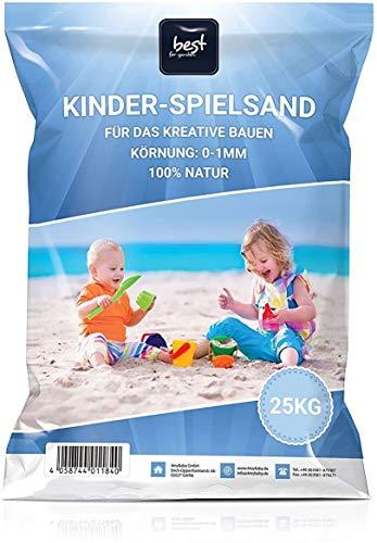 Best for Garden 25kg Spielsand Quarzsand für Sandboxen Sandkasten Dekosand TÜV geprüft TOP Qualität (25 kg)