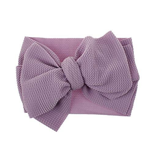 Boomly Bébé Filles Bandeau Nœud papillon Bandeau Tissu Turban HeadwrapAccessoires pour cheveux DIY Fleur de tête (Violet, 20 * 12CM)
