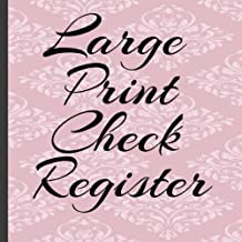Large Print Check Register: Checking and Debit Card Ledger