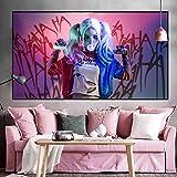 Geiqianjiumai Hero Movie Posters e Impresiones Art Comics murales Clown Team Foto de Pared para Sala de Estar Pintura sin Marco 50x80cm
