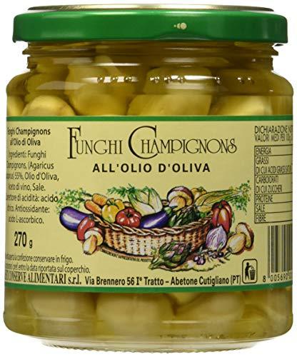 Nesti Conserve Alimentari Champignons all'Olio di Oliva - Pacco da 6 X 270 g