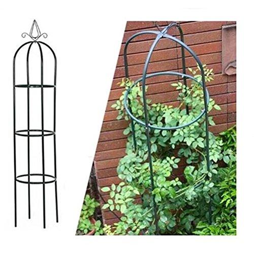 2x Rosenturm Rankhilfe Rankgitter Rosensäule Metall Pergola Obelisk Säule 190cm Set