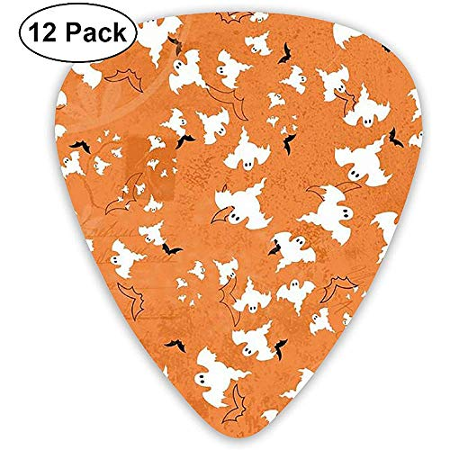 Paper Halloween Scrapbook Guitar Picks 12 Pack - 3 tamaños diferentes incluye Thin, Medium & Heavy