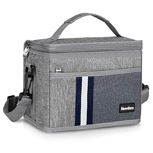 Newdora 12L Kühltasche Klein Picknicktasche Lunchtasche Mittagessen Tasche Thermotasche Kühltasche Isoliertasche für Lebensmitteltransport Isoliertasche für Sport, Picknick, Büro, Auto oder Urlaub