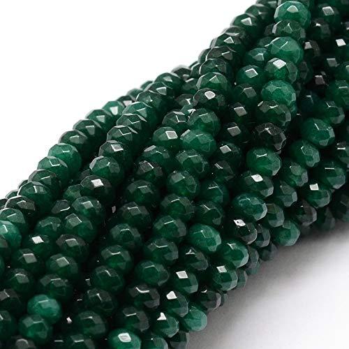 Perlin - Piedras preciosas, perlas, piedra ágata, 4 mm, verde abeto, 30...