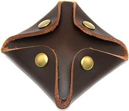 SUPVOX Monedero de Cuero Monedero pequeño Monedero pequeño Monedero Monedero Monedero para Hombre y Mujer (Marrón Oscuro)