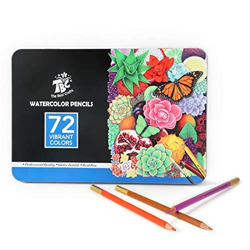 TBC The Best Crafts 72 Farben Buntstifte Professionell Bleistifte für Kinder und Erwachsene zum Zeichenen und Malen