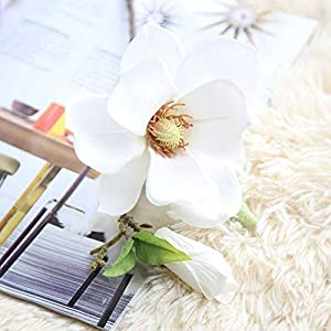 Artificial and Dried Flower 1pc Silk Flowers Orchid Magnolia Wedding Artificial Flowers Wedding Decoration for Home Decoration Valentine's Day Gift