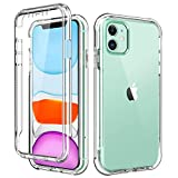 BRINCH iPhone 11 Case,[Built in Screen Protector] Full Body
