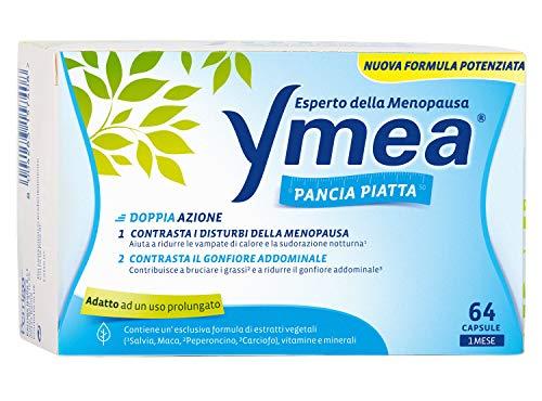 Ymea Pancia Piatta - Integratore Alimentare Esperto della Menopausa che Contrasta il Gonfiore Addominale - 64 capsule