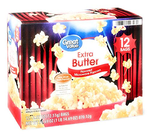 New Great Value Extra Butter Microwave Popcorn