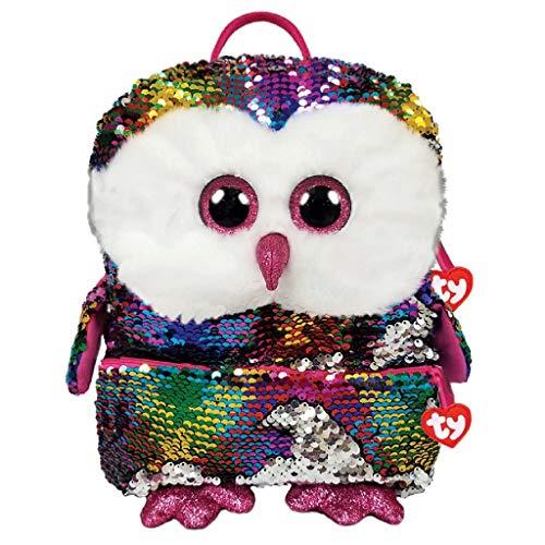 Owen the Owl Plush Sequin Backpack 35 cm
