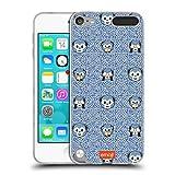 Official emoji Morrocan Tile Blue Pantone Soft Gel Case Compatible for Apple iPod Touch 5G 5th Gen