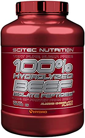 Scitec Nutrition 100% Hydrolyzed Beef Isolate Peptides proteína Chocolate de almendra 1800 g