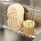Kitchen Sponge Holder, Sink Basket Sink Caddy Brush Dishwashing Liquid Drainer Rack…