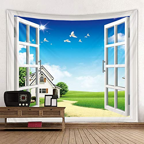 Hermosa casa estampado de hierba grandes tapices hippie tapiz bohemio mandala tapiz de arte de pared A4 130x150cm