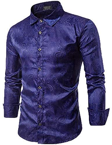 Van Heusen Men's Long Sleeve Oxford Dress Shirt, Blue, XX-Large