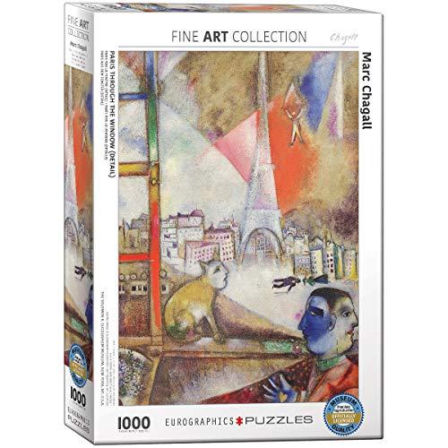 EuroGraphics 'Marc Chagall París través de la Ventana Puzzle (1000 Piezas, Multi-Color)