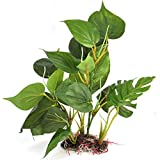 AMAZING1 Planta artificial para pecera – Planta falsa – Decoración para pecera – Decoración para pecera – Decoración para pecera – 20 cm – Acuario casero – Diseño realista natural
