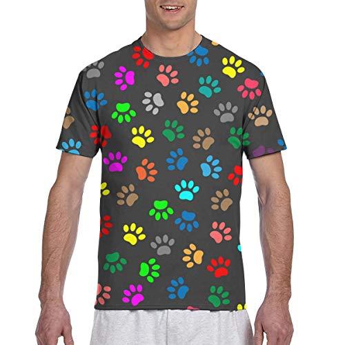 Colorido Animal Paw Prints Seamless Full 3D Impreso Camiseta Plus Size Cool Printing Top Blusa XXL