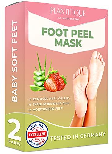 Foot Peel Mask - Strawberry Feet Peeling Mask 2 Pack - Dermatologically...