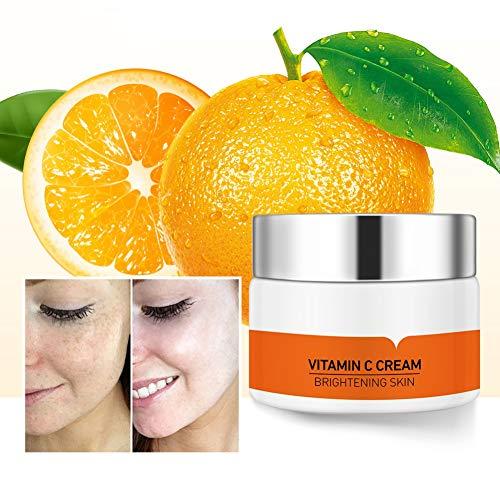 VC Whitening Freckle Blemishs Cream - Hydratant facial naturel avec acide hyaluronique, nicotinamide, pour nourrir la peau, éliminer les taches de rousseur, améliorer la peau terne
