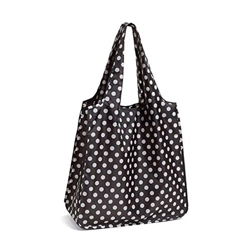Kate Spade New York Reusable Shopping Tote with Travel Zip Pouch, Daisy