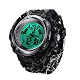 100m Underwater Digital Diving Watch for Men Women Swimming with Stopwatch, Dual Time