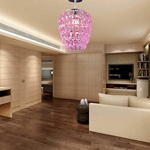 U'Artlines Colgante Moderno Araña de Cristal, Gota de lluvia Iluminación Lámpara de...