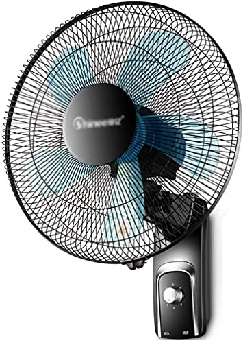TOPNIU Wall Mounted Oscillating Fan Wall Mount Fan Oscillating 3-Speed Quiet Operation Wall Fan for Industrial, Commercial, Residential, Office Use