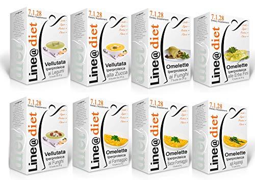 """Dieta Proteica Line@Diet! MaxiBAG 80 BUSTE: Opzione: SALATO = 80 preparati / Alimenti PROTEICI (buste proteiche) senza Carboidrati e senza Zuccheri, una dieta per """"PERDERE PESO"""" in pochi giorni, senza sentire la FAME! ... brucia grassi e TORNI SUBITO in FORMA!"""