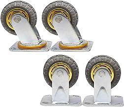 Zwaar uitgevoerde zwenkwielen 360 graden zwenkwiel 4 rubberen zwenkwielen met rem 100/125/150/200 mm draagvermogen 330 kg