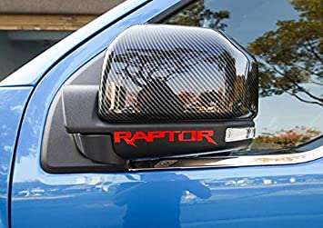 14CM Landparts Red Letter Car Body Door Handles Rearview Mirror Rear Door Car Sticker Flower Sticker Personalized Decoration Exterior Accessories for Ford Raptor F150 2009-2019