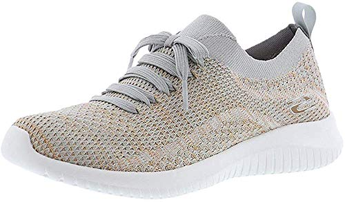 Skechers Damen Sneaker Ultra Flex SALUTATIONS Beige/Gold, Schuhgröße:EUR 39